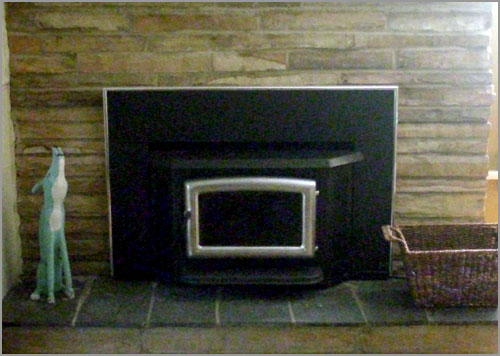 Rebuilt Stone Fireplace and Wood Stove Insert in Hightstown, NJ