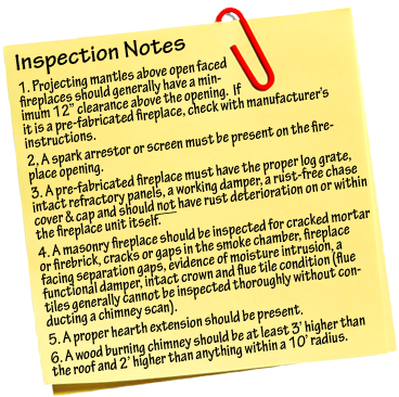 Certified Craftsmen Inspection Notes