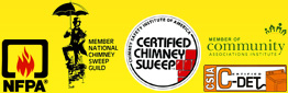 Certified Craftsmen Chimney, Fireplace & Dryer Vent Cleaning, Service & Repair of NJ is a member of the CSIA, NSCG, CAI, NFPA and is C-DET certified.